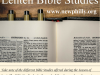Take note of the different Bible Studies offered during the Season of
