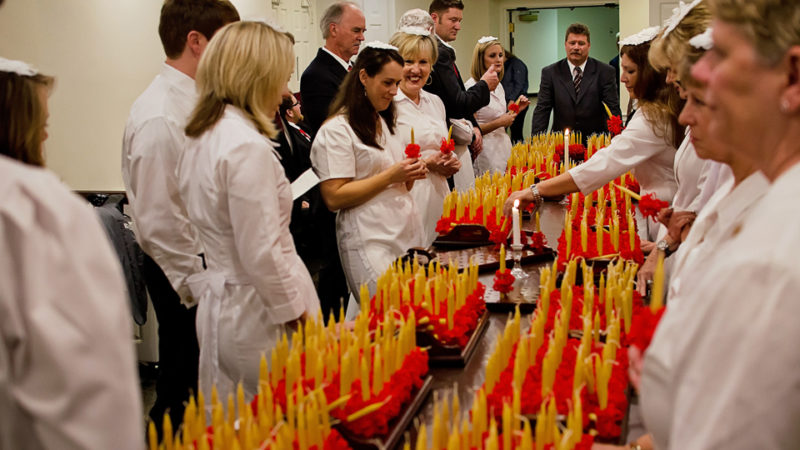 Preparing the candles