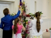 Adding flowers to the Cross